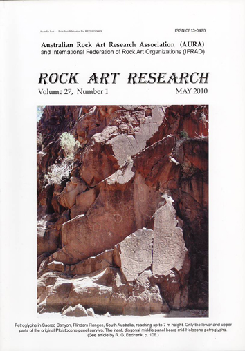Rock Art Research, May 2010 issue