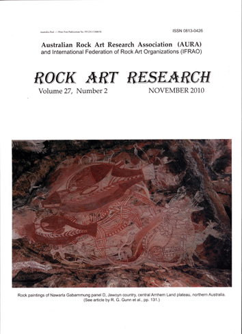 Rock Art Research, November 2010 issue