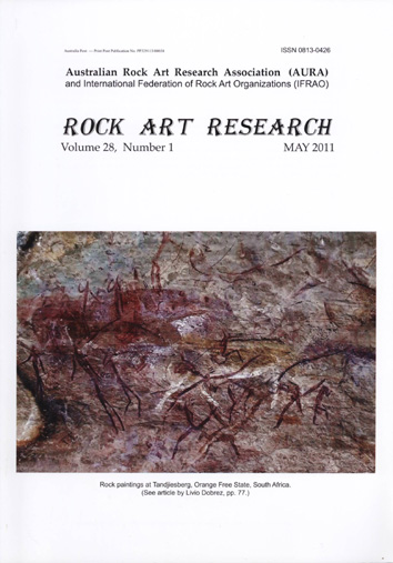 Rock Art Research, May 2011 issue