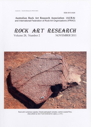 Rock Art Research, November 2011 issue