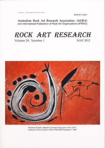 Rock Art Research, May 2012 issue