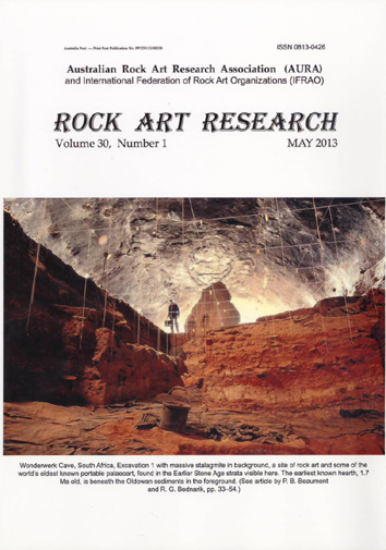 Rock Art Research, May 2013 issue