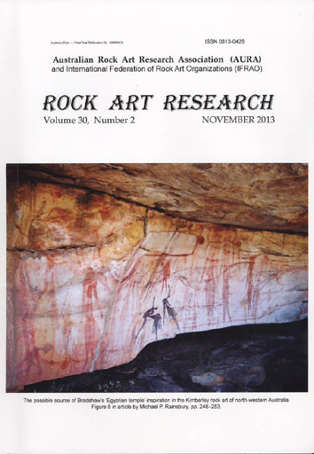 Rock Art Research, November 2013 issue