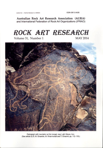 Rock Art Research, May 2014 issue